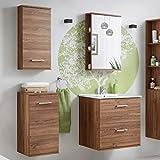 Badmöbel Set 'Marisa 60' Badezimmerschrank 5 tlg Waschbecken Waschtisch Spiegelschrank