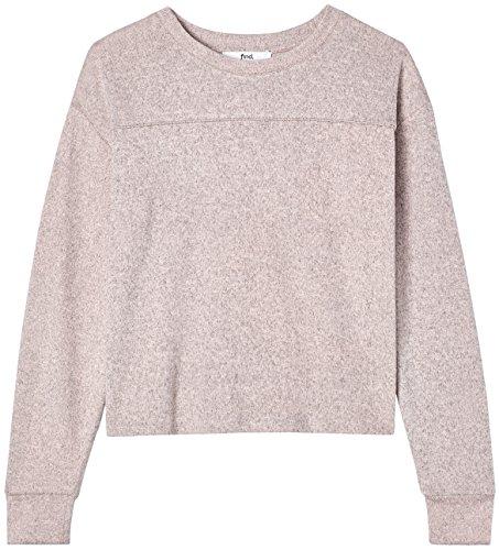 FIND Damen Leicht verkürzter Pullover Rosa (Pink Blush)