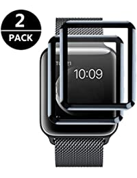Apple Watch 42mm Protector de Pantalla, Cristal Vidrio Templado Premium , Espesor 0.25 mm, 2.5D Round Edge- [3D Touch][Alta Definicion][No hay Burbujas] , Protector Pantalla para Apple Watch Serie 1 2 3 42mm Hermès/Nike+ Edition