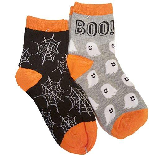 MadeforRetailinc Halloween Fun Socken 2 Paar Socks Größe US9-11 EU 39-41 (Spiderweg (Halloween Socken)