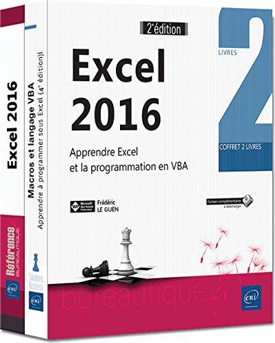 Excel 2016 - Coffret de 2 livres : Apprendre Excel et la programmation en VBA (2e dition)