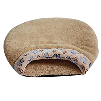 Mxixi Cat Sleeping Bag Warm Soft Puppy Burrow Cat Kitten Cave Igloo Nest Sleeping Bag Bed (Gray) 10