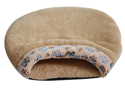 Mxixi Cat Sleeping Bag Warm Soft Puppy Burrow Cat Kitten Cave Igloo Nest Sleeping Bag Bed (Gray) 1