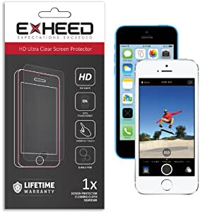 EXHEED iPhone 5 / 5C / 5S Screen Protector - High Quality Ultra Clear High Definition (HD) (Retail Packaging with Lifetime Warranty - USA Seller)