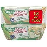 Blédina idées de maman 200gx4 bols légumes pot au feu/purée courgettes dès 12 - ( Prix Unitaire ) - Envoi Rapide...