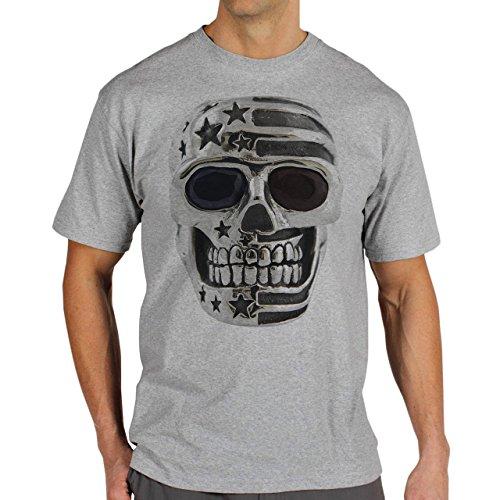 Skull Silver Herren T-Shirt Grau