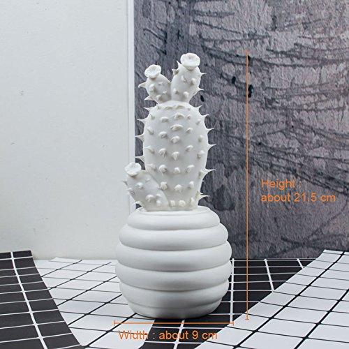 �e Keramik cactus Dekoration Weihnachten Geschenk Figuren Porzellan Kunst Handwerk für Home Schmuck Zubehör feng shui Einrichtung, Kaktus B (Cactus Handwerk)