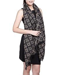 écharpe hiver femme foulard grande taille châle cache-col réversible franges à fleurs - plusieurs couleurs