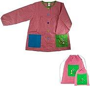 Kiz Kiz Bata Escolar Infantil Baby Infantil de Cuadros Pequeños