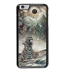 Fuson Premium 2D Back Case Cover Designed tiger With brown Background Degined For Apple iPhone 6 Plus