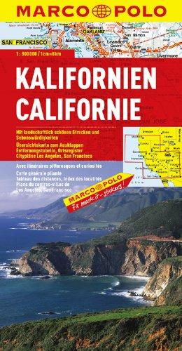 MARCO POLO Kontinentalkarte Kalifornien 1:800.000 (MARCO POLO Länderkarten) -