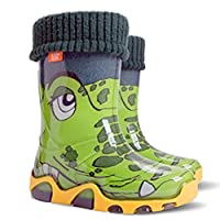 Demar Boys Girls Kids Fleece-Lined Wellington Boots Wellies