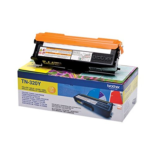 Gelb-laser-drucker (Brother Original Tonerkassette TN-320Y gelb (für Brother HL-4140CN, HL-4570CDW, HL-4150CDN, HL-4570CDWT, DCP-9055CDN, DCP-9270CDN, MFC-9460CDN, MFC-9970CDW, MFC-9465CDN))