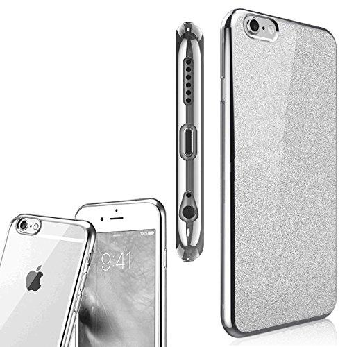 NWNK13 ® iPhone Collection souple Ultra Fine en gel/TPU Coque souple Design Coque arrière avec strass plaqué plaqué cadre pare-chocs Coque