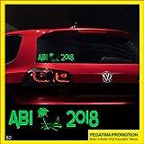 Abi Aufkleber Typ62 Autoaufkleber Abitur 2018