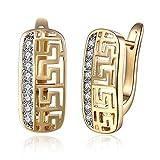 Style Objetivo anillo pendientes gota piedra de luna cristales Oro Rojo Oro 12mm 1764