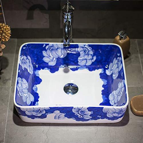 Zeitgemäße Form (CERARCS Waschbecken Reine Handwaschbecken Bemalung von Badezimmerwaschbecken Aufsatzwaschbecken Keramik in zeitgemäßer Form Aufsatzschale)