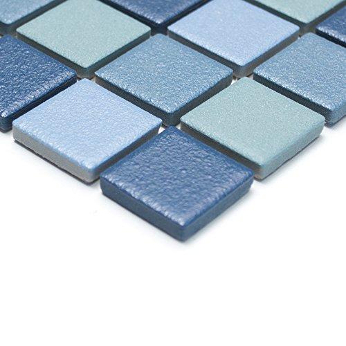 denfliesen Mosaik Keramikmosaik für Bäder / Duschen (klein, blau) ()