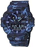 Casio Orologio Analogico Quarzo Uomo con Cinturino in Resina GA-700CM-2AER, Azzurro (Mimetico)