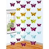 NET TOYS 6 Colgantes Decorativos Mariposas - 210 cm | Decoración para Colgar Fiesta de Verano | Adornos Colgantes Vanesa | Guirnalda Cumpleaños