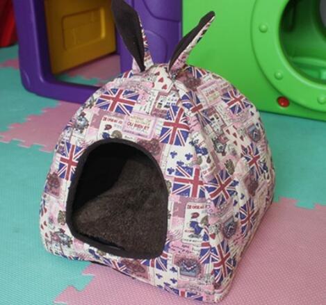 DOUERDOUYUU Großes Geschenk Heimtierbedarf Closed Style Yurt Modell Warme Haustiere Nest Pet Supplies Brown M Banner