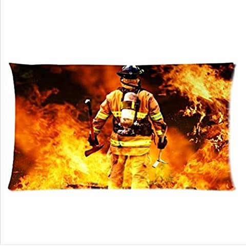 Best Seller Pillowcase-Firemen And Fire Design Fire Department Pillowcase,Two Side Pillowcase Pillow Cover 20x36 inches