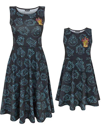 Harry Potter Gryffindor Mother and Daughter Matching Outfits Mini Me Skater Dresses