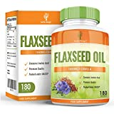 Earths Design Flaxseed Oil, 1000mg, Best Source of Omega 3 6 9 For Men & Women, Get DOUBLE the Capsules - 180 Softgels by Earths Design
