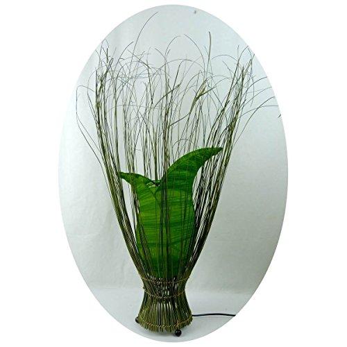 Deko-Leuchte Stimmungsleuchte Stehleuchte Tischleuchte Tischlampe Bali Asia TULPE klein 60 cm Color Grün - Asiatische Tischleuchte