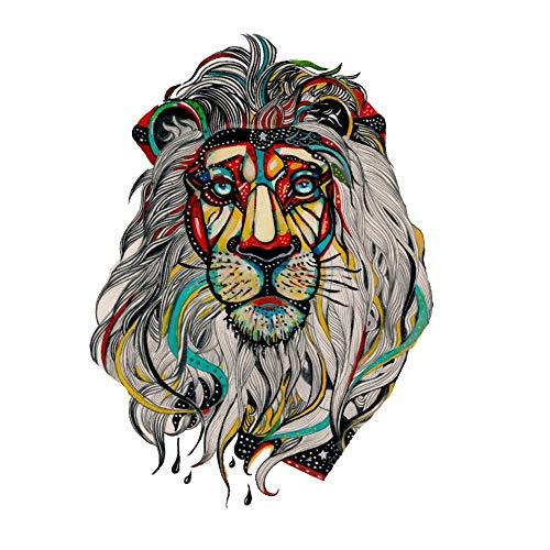 Justfox - tatuaggio temporaneo a forma di leone, multicolore