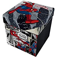 Preisvergleich für Star Licensing Marvel Spiderman Ottomane mit Kissen, Polyester, mehrfarbig, 32x 32x 32cm