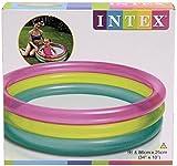 "Intex Inflatable Rainbow Baby Paddling Pool 34"" x 10"""