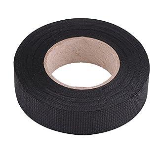 MultiPurpose Car Wiring Harness Tape, Keenso Self Adhesive Anti Squeak Rattle Felt Automotive Wiring Harness Tape, Black (19mm*15m)