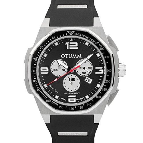 Otumm Speed Delta Stahl 001Schwarz 53MM Unisex Speed Armbanduhr