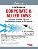 Handbook on CORPORATE & ALLIED LAWS (Applicable for CA Final May 2017 Exams)