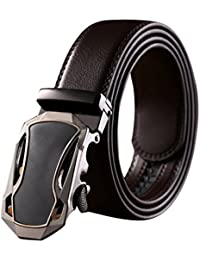 Tangda-Ceinture Automatique Homme ceinture de jeans ceintures de serrage ceinture en cuir avec boucle automatique élégante Longueur 120cm Boucle Jolis