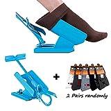 Sock Slider, Sock Aid Easy on Easy off, Kit Deslizante Helper Sock, Calzador de Medias y Calcetín, Calcetines Calzador y Calcetines Contorneado, Calzador de Calcetines, Ayudas para poner los calcetines.(1 Dispositivo + 2 Calcetines)
