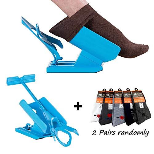 Sockenhilfe,Sock Slider Anziehhilfe für Kompressionsstrümpfe Aid Helper Socken Anziehhilfe für Senioren,Socken Anziehhilfe Keine Biegung Stretching für Schwangerschaft und Verletzungen Living Tool
