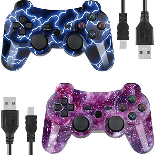 Gollec Wireless Controller Remote Gamepad für PS3 Playstation 3 Double Shock mit USB-Ladekabel