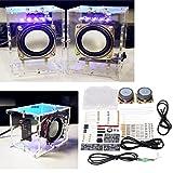 LaDicha Diy 5V Usb Transparent Mini Verstärker Lautsprecher Kit 70X75X103Mm 3W Pro Kanal