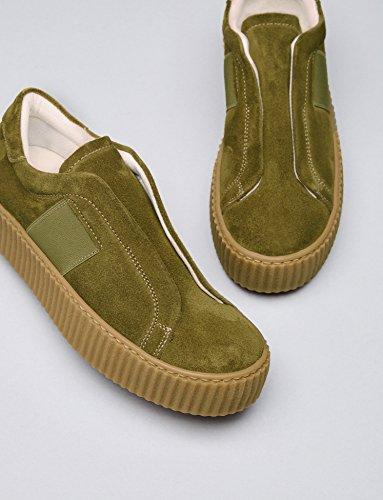 FIND Damen Walsh Elastic Slipper mit Plateausohle Grün (Green)