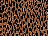 Camelot Stoffe Schwarz & Tan Leopard Popeline Quilting