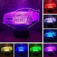 BFMBCHDJ Fashion Cool Man Bridge Car 7 Color Changing Lamp Visual Night Light Bedroom Girls Boys Toy Friend Family Xmas Birthday Gifts