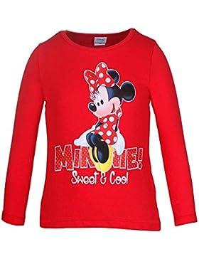 DISNEY Mädchen Minnie Mouse Shirt, rot