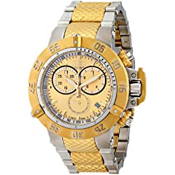Invicta 15949 50mm Gold Steel Bracelet & Case flame fusion Men's Watch