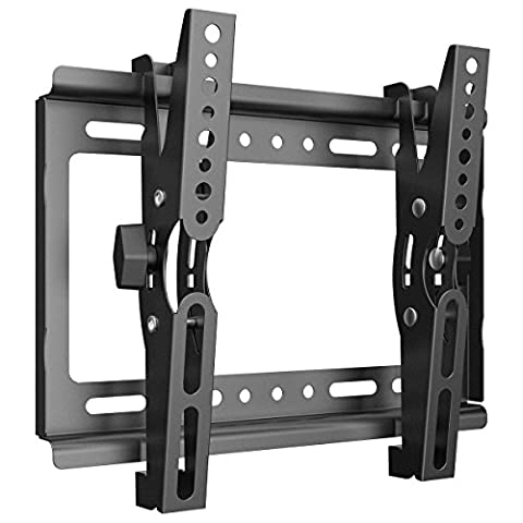 Support TV Mural inclinable plat, support universel écran plat mural inclinable TV LCD Meuble Support TV LED Plasma fixation murale TV Support VESA 250x210mm universel compatible toutes marques
