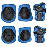 51aIx9GOepL. SL160  BEST BUY UK #1Erinfam Baby Take Protective Equipment Kits Skateboards Skateboard Knee Combination Sets Childrens Outdoor Sports Riding Protectors Elbow Leggings Hand Protectors Safety Kits Red, blue price Reviews uk