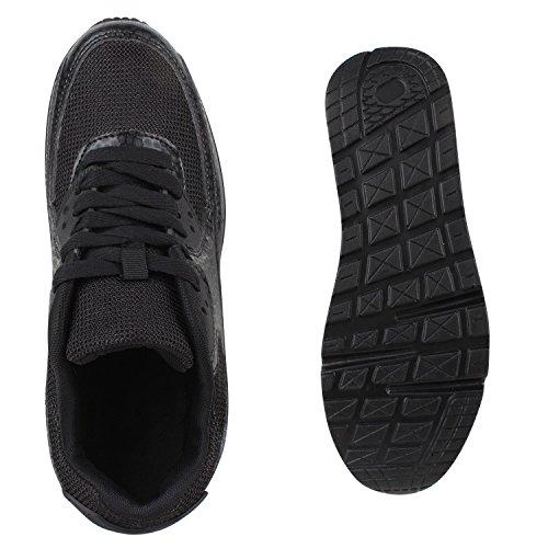 Knallige Damen Herren Unisex Sportschuhe | Auffällige Neon-Sneakers | Sportlicher Eyecatcher für Ihren Alltags-Look | Angenehmer Tragekomfort | Gr. 36-45 Schwarz Muster