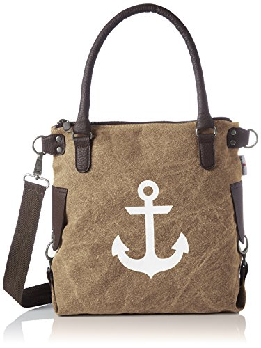 Bags4Less Damen Anker-Mini Schultertasche, (Washed-Braun), 34x20x32 cm