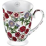 Creative Tops Royal Botanic Garden Kew Dianthus Stokesia-Tazza in porcellana fine con base